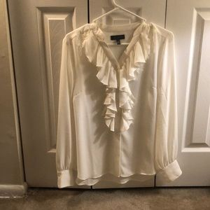 Frilly button down
